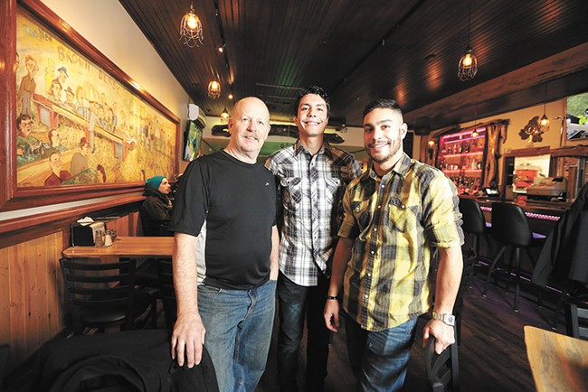 Brown Derby co-owners Dave Jones, his stepsons Casey Yahrling and Sean Yahrling, have revived the historic bar in the Garland District. - YOUNG KWAK