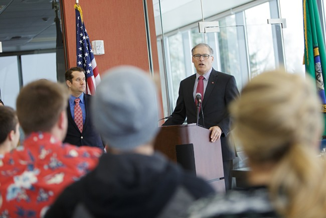 Washington Gov. Jay Inslee wants to raise taxes to pay for schools. - YOUNG KWAK