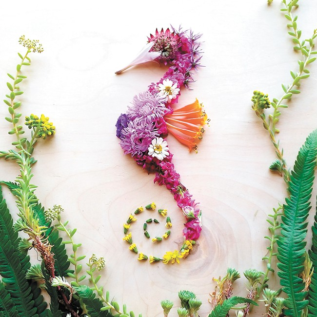 Sarah Edwards works only with materials from nature.