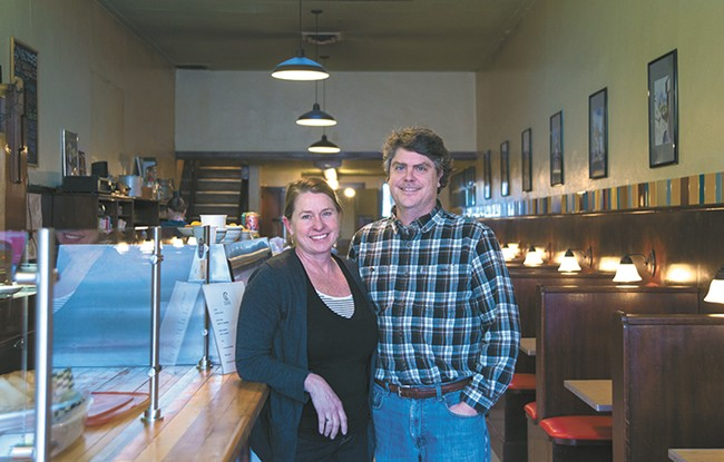 Patty and Matt Brehm, owners of the Kitchen Counter. - TARYN PHANEUF