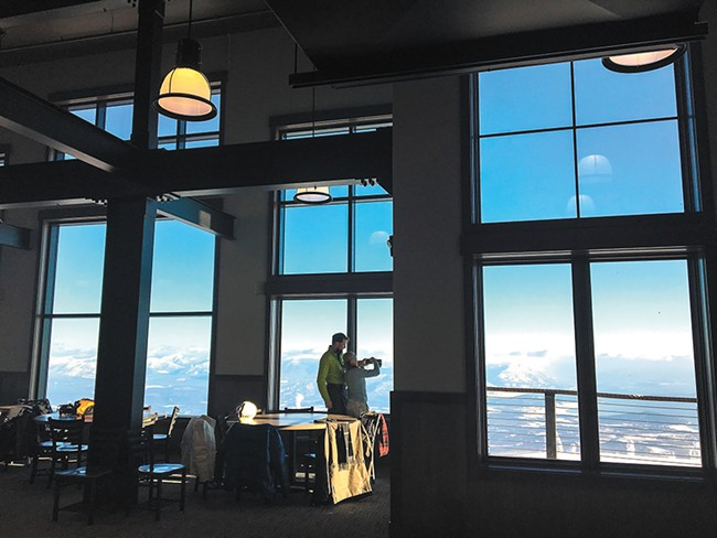 Eating at the Sky House means a meal at 6,375 feet above sea level. - SCHWEITZER MOUNTAIN RESORT PHOTO