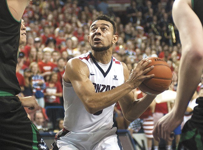 Nigel Williams-Goss transfered to Gonzaga from UW. He scored 23 points against his former school back on Dec. 7. - AUSTIN ILG PHOTO