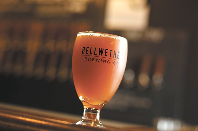 The Albion Ale, a gruit style beer available at Bellwether. - YOUNG KWAK