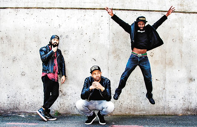 Ayron Jones (center) and his band The Way are on the fast track to Next Big Thing status in Seattle. - KAREN MASON-BLAIRE
