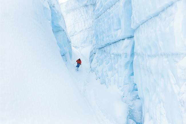 Skiing at Ice Fall Lodge in British Columbia - DOUG MARSHALL