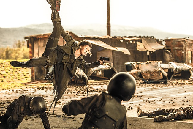 Upside: Milla Jovovich is a badass action hero.