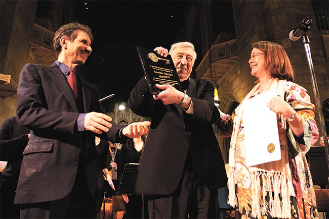 The late Gunther Schuller accepting the Key to the City of Spokane in 2011. Schuller led the Bach Festival from 1993 to 2013.