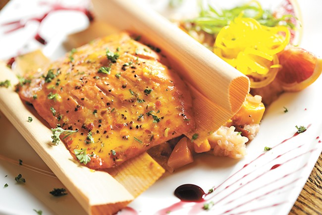 Bistro on Spruce's orange-glazed salmon