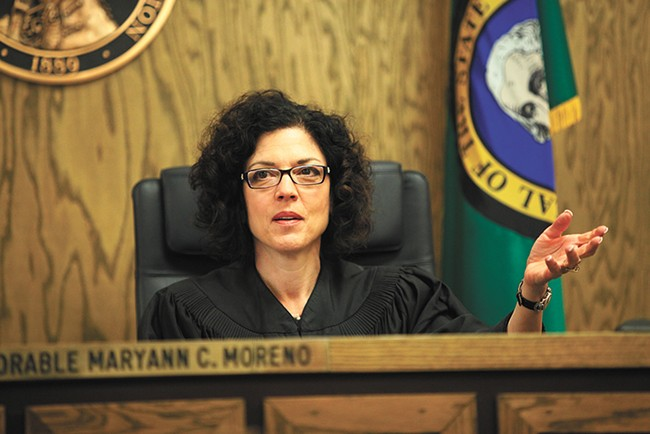 Spokane Judge Maryann Moreno does not approve of Haskell's philosophy toward chronic offenders. - YOUNG KWAK