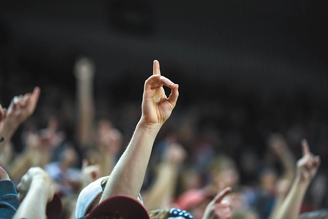 A fan marks the Zags' seed in the Kennel last month. - RAJAH BOSE