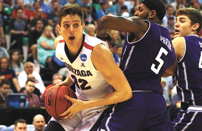 Collins' post moves make him an NBA prospect. - GONZAGA ATHLETICS
