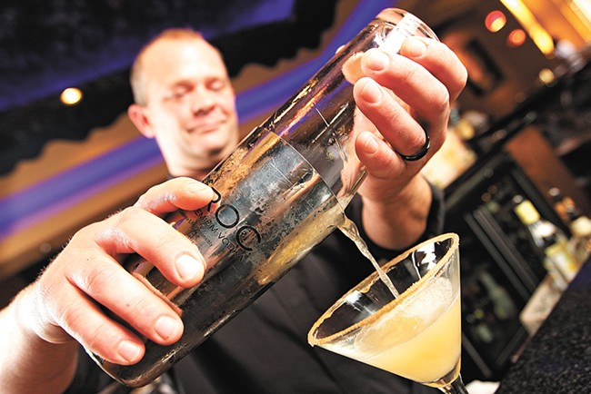 The house specialty? $6 martinis! - YOUNG KWAK