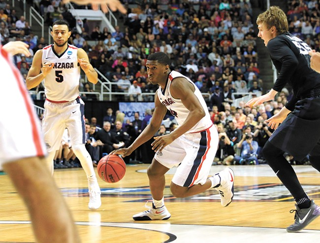 Gonzaga's Jordan Mathews played a huge role all season. - TORREY VAIL/GU ATHLETICS