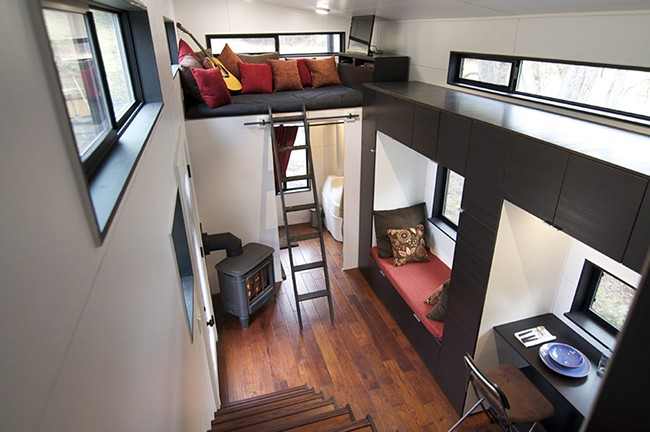Tiny home interiors from hOMes; some are as small as 200 square feet. - HOME PHOTO