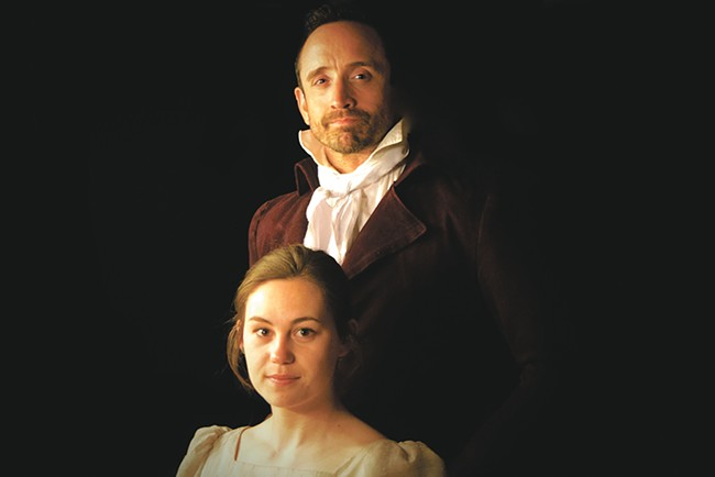 Brooklyn Robinson as Thomasina and Chris Jensen as the tutor Septimus. - CHRIS JENSEN