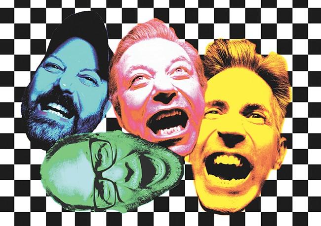 Local punk quartet Big Yuck Mouth still thrash like it's 1988. - KRISTEN BLACK ILLUSTRATION