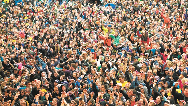 The crowds at Sasquatch!