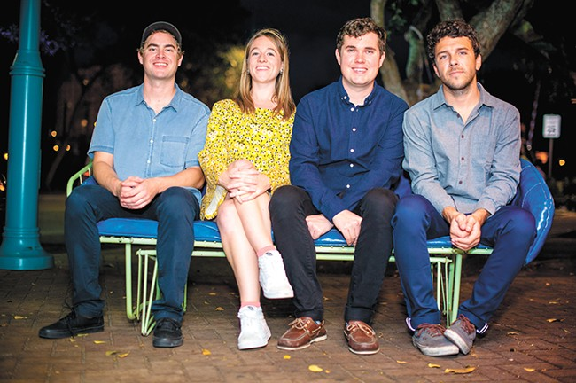 J.P. Pitts (second from right) and Surfer Blood. - JOAQUIN ANICO