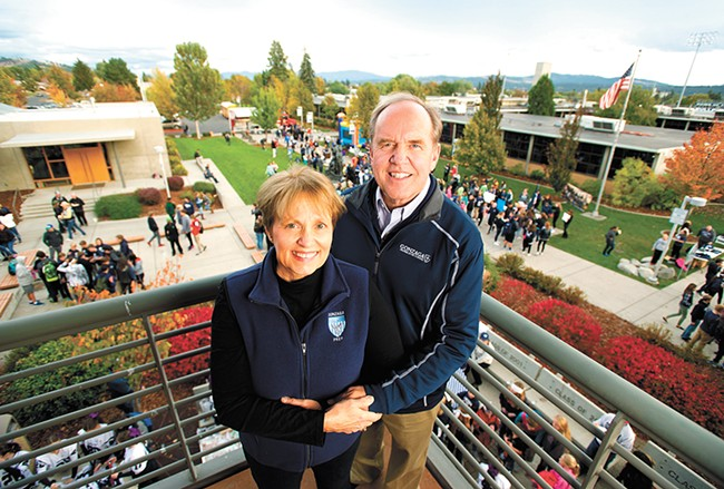 Outgoing Gonzaga Prep president Al Falkner and his wife, Vicki, plan to spend their retirement traveling and seeing their grandkids. - STEVEN NAVRATIL