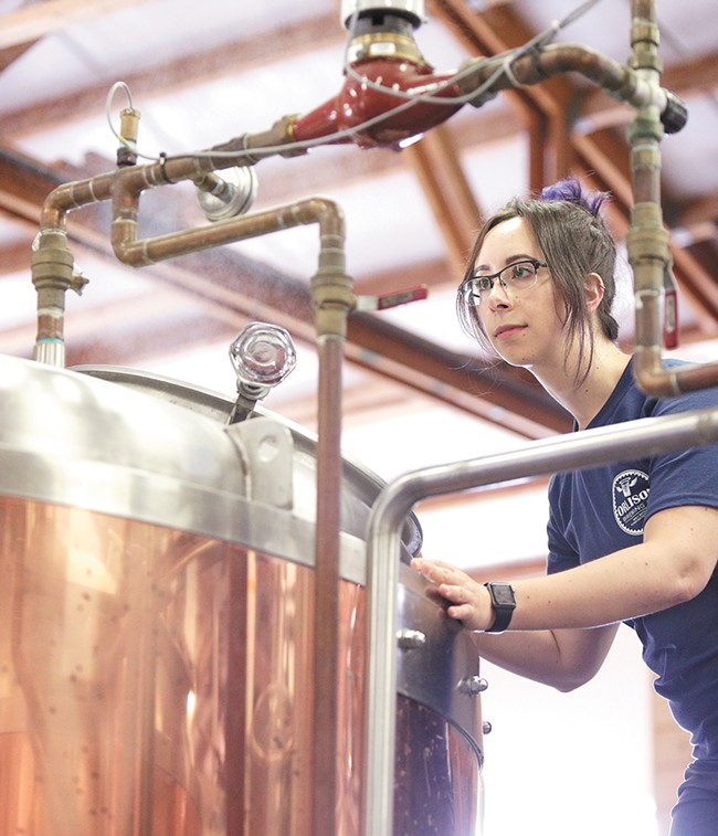 A fairly new craft brewing degree from CWU prepared Nalley for her beermaking career. - YOUNG KWAK