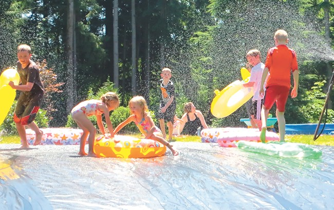 Go ahead — build your own slip-and-slide!
