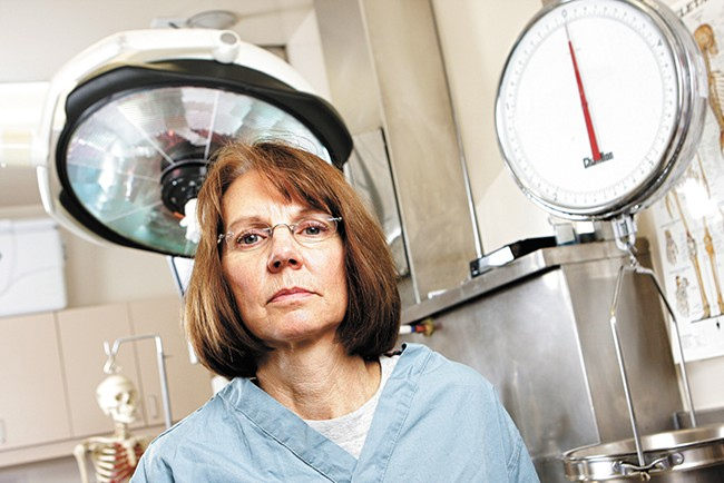 Dr. Sally Aiken, one of Spokane County's two medical examiners