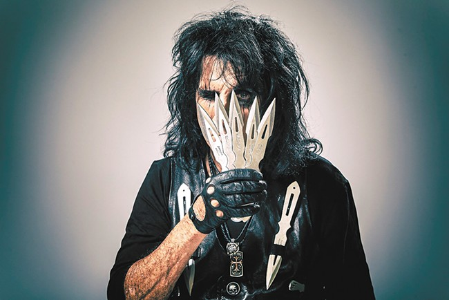 How about a nice Father's Day beheading? - Alice Cooper headlines at Northern Quest on Sunday.