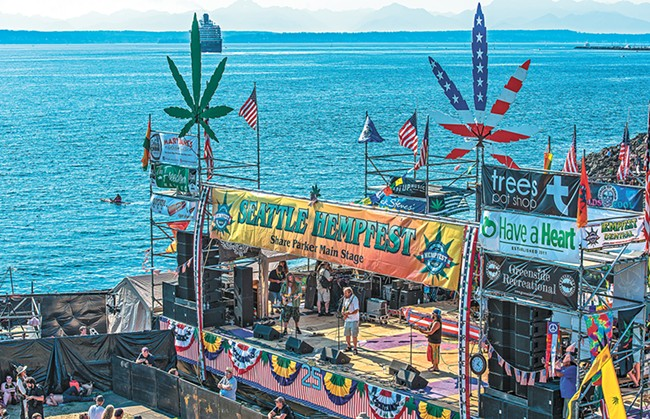 Seattle Hempfest runs Aug. 18-20. - GREG SHAW