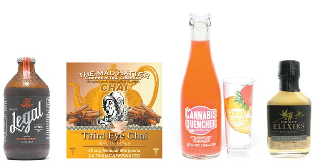 Some of the liquid edibles available in Washington.