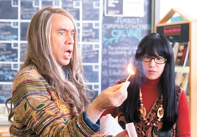 Fred Armisen, who performs at the Bing on Friday, as bookstore owner Candace on Portlandia, pictured with series co-creator Carrie Brownstein. - IFC PHOTO