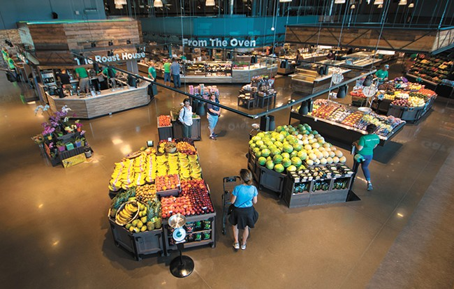 Stands of fresh produce are intentionally seen first when entering My Fresh Basket. - STUART DANFORD