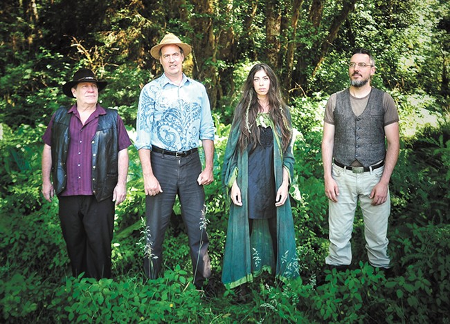 Krist Novoselic (second from left) and his new band Giants in the Trees. - MEGAN BLACKBURN