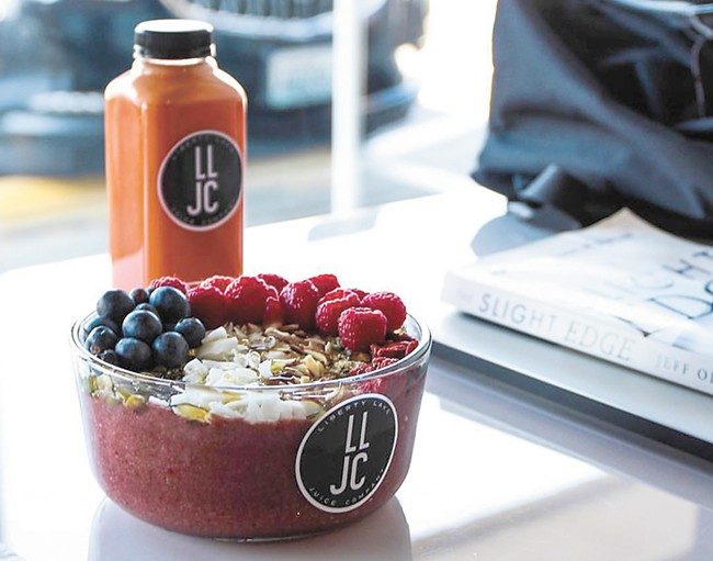 You'll also find acai bowls at Liberty Lake Juice Co.