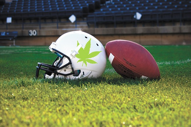 The NFL has expressed interest in studying the effectiveness of pot as a pain-relieving drug.
