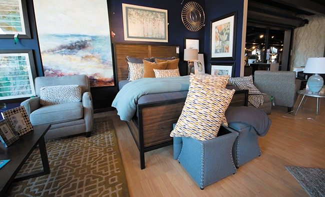 A bedroom display showcased at the Tin Roof. - STUART DANFORD