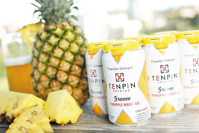 An entire pineapple is squeezed into every case of Tenpin's Groove Pineapple Wheat. - YOUNG KWAK