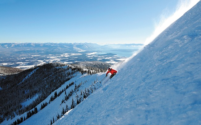 One lucky skier enjoys Schweitzer's Shot 9. - SCHWEITZER MOUNTAIN RESORT PHOTO