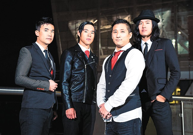 Simon Tam (left) and his band the Slants, who set legal precedents in their battle for a trademark. - SARAH GIFFROW PHOTO