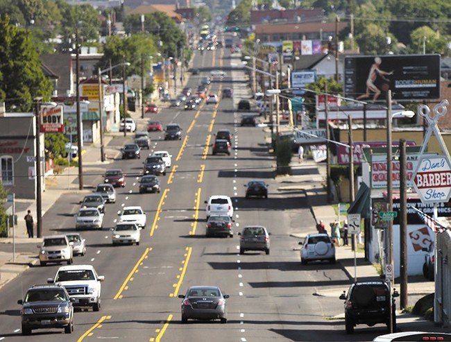 The Monroe Street city project has inspired a lawsuit from some of the road's business owners. - YOUNG KWAK