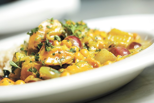 The chickpeas in Mizuna's Moroccan tagine are both flavorful and local. - YOUNG KWAK