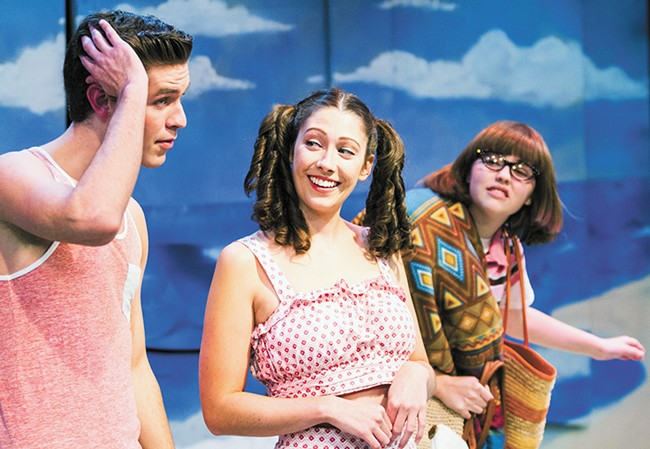 FROM LEFT: Dennis Julian Burgess as Star Cat, Rushele Herrmann as Chicklet and Grayson Davey as Berdine. - JEFF FERGUSON