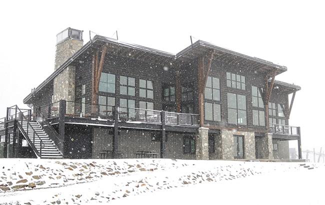 Snow flying at Schweitzer last month. - SCHWEITZER MOUNTAIN RESORT PHOTO