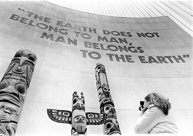 This quote, misattributed to Chief Seattle, greeted visitors to the World's Fair in 1974. - NORTHWEST MUSEUM OF ARTS AND CULTURE PHOTO