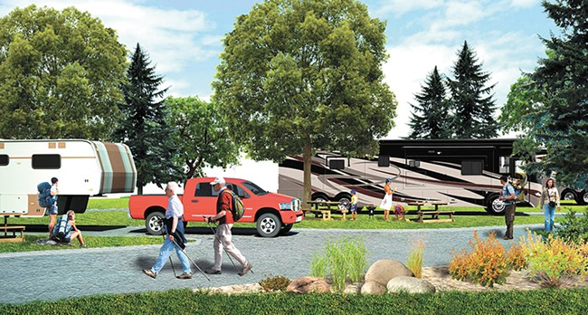 Rendering of the tribe's new RV resort.