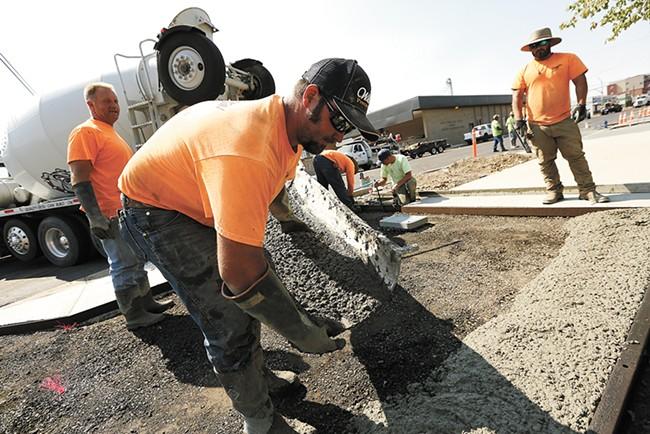 Construction along East Sprague. - YOUNG KWAK