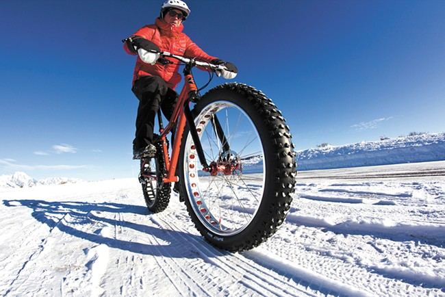 Fat biking isn't just for winter, but it works great on the snow.