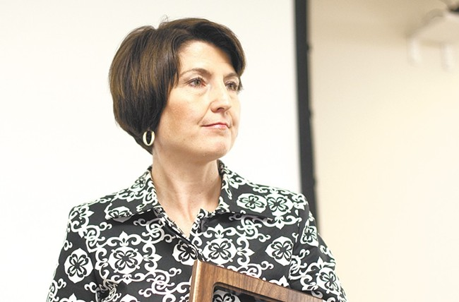 Rep. Cathy McMorris Rodgers once again found a vocal, angry audience when she showed up in Spokane.