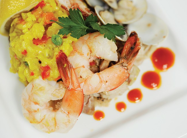 Seafood paella will be on the Inlander Restaurant Week menu at The Barrel. - YOUNG KWAK