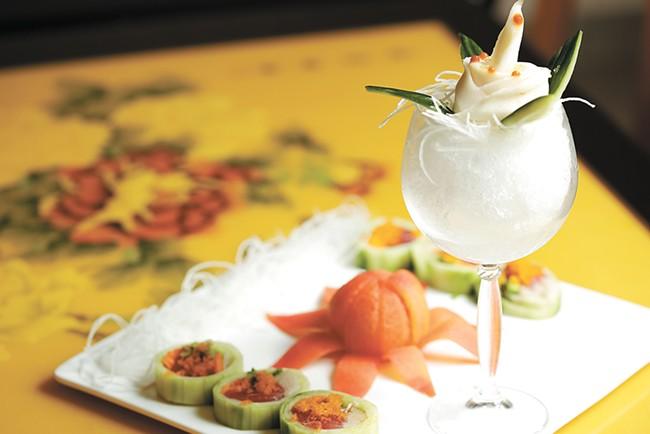 A cucumber roll from Kobe's sushi bar. - YOUNG KWAK