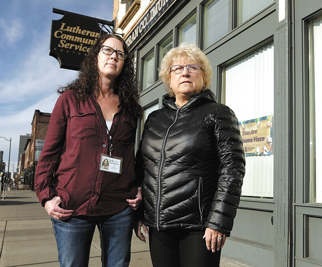 Lutheran Community Services Victim AdvocatesCarol Ulland (left) and Shannon Kapek. |YOUNG KWAK photo